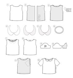 peter pan collar boxy shirt
