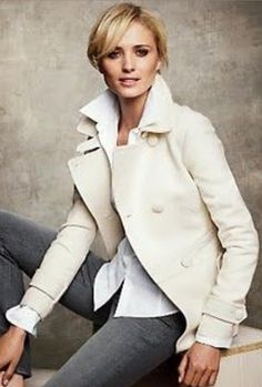 Talbots - The Classic Peacoat - Ivory
