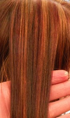 Pin By Meagan Slater On My Style Red Hair With Highlights Hair Highlights Hair Color Highlights