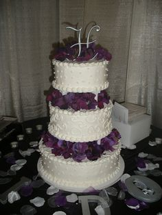 purple flower cake
