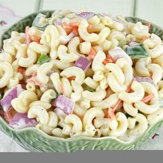 This cold macaroni salad is great on a summer day.  You can substitute different vegetables.. Cold Macaroni Salad Recipe from Grandmothers Kitchen.