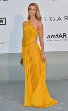 Pin for Later: 73 Times Rosie Huntington-Whiteley's Sexy Looks Scorched the Red Carpet  Rosie opted for a draped Emilio Pucci dress at amfAR's 21st Cinema Against AIDS Gala in Cannes, France.