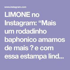 """LIMONE no Instagram: """"Mais um rodadinho baphonico amamos de mais 🥰 e com essa estampa linda! #sejaquemvocequiser #sejalivre #sejalimone 💚"""" Instagram, Block Prints, Vestidos"""