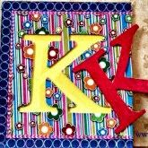 Make a monogrammed piece of art that's as original as you with paper, Mod Podge and washi tape