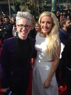 Tyler Oakley and Ellie Goulding