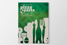 """Graphic cover October of """"Pizza e Pasta"""" by Antonella Manenti"""