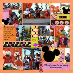 Disney Scrapbooking Cute idea for snippits of this an that.
