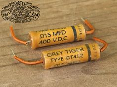 Vintage Replica GREY TIGER MFD Capacitor for Gibson Les Paul SG ES 335 and other electric Guitar, simply the best Capacitors for restauration and upgrade your Guitar Sound Fender Telecaster, Guitar Fender, Fendi, Custom Guitars, Gibson Les Paul, Vintage Guitars, Grey, Gray