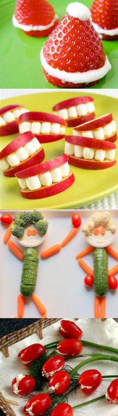 10 adorable fruit and veggie snacks your kids will love детские закуски, ве Veggie Snacks, Healthy Snacks, Kid Snacks, Fruit Snacks, Veggie Art, Fun Fruit, School Snacks, Toddler Meals, Kids Meals