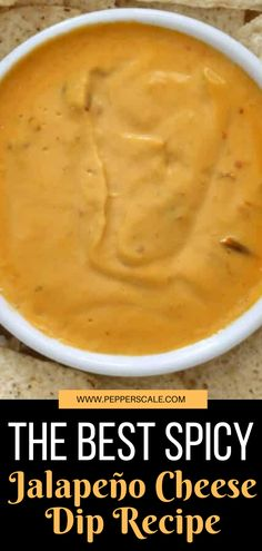 This is the best Spicy Jalapeño Cheese Dip and it's great with tortilla chips, crackers, and even pretzels. You need to try it! #spicy #jalapeno #cheesedip #homemade #fresh #jalapenorecipe Cheese Dip Recipes, Jalapeno Recipes, Cheese Appetizers, Spicy Recipes, Appetizers For Party, Appetizer Recipes, Rotel Dip, Chicken Wings Spicy, Jalapeno Cheese