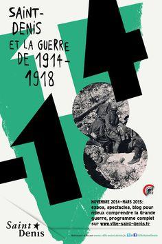 Commémoration de la Guerre 14-18, mairie de Saint-Denis - Formes Vives, l'atelier Graphic Design Projects, Graphic Design Branding, Graphic Design Posters, Graphic Design Inspiration, Typography Design, Typo Poster, Poster Layout, Sonia Delaunay, Posters Conception Graphique