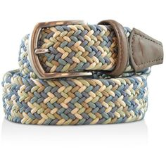 08134ea7d7f Andersons s Multicolor Stretch Belt ( 185) ❤ liked on Polyvore featuring  men s fashion