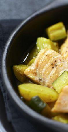 Saumon aux courgettes et pommes de terre façon tajine