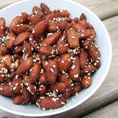 honey sesame almonds (Trader Joe's copycat) definitely need more sesame seeds