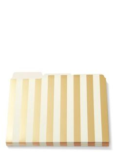 strike gold stripe file folders - kate spade new york | glamorous desk acessories are a necessary luxury. the pieces in our strike gold collection--which mix clear acrylic with gold accents and a clever turn of phrase--will inspire your personal best, every hour of the workday.
