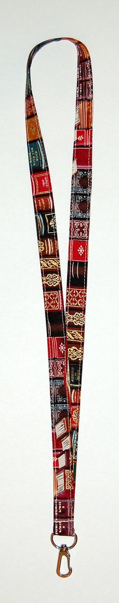 Library Books Lanyard (READY TO SHIP)