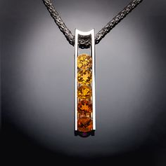 citrine necklace citrine pendant November by VerbenaPlaceJewelry