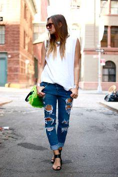 torn jeans...a great look for a Dirty Girl Farm Girl...www.dirtygirlfarm.com