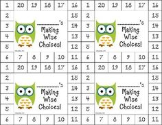 "Differentiated Behavior Punch Cards - (Owl Theme).  As we all know, ""One size doesn't fit all."" These cute owl-themed behavior punch cards can be used to motivate a wide range of students.  These can be used for behavior, homework, reading, and math achievement."