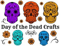 Day of the Dead Crafts/ Dia De Los Muertos/painted rocks and catarinas made of card stock and pipe cleaners