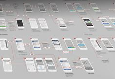iOS 8 UX Flows designed by Michael Pons for PG. Connect with them on Dribbble; Wireframe Design, Ui Ux Design, Tool Design, Design Thinking, User Flow, Mobile Ui Design, Information Architecture, Grid Layouts, User Interface Design