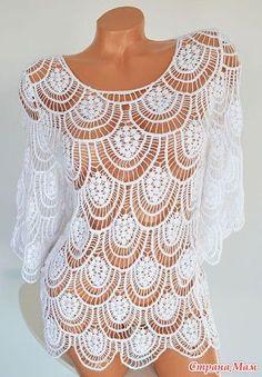 ... crochet blusa de encaje para una ocación especial más tejido crochet
