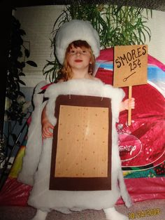Smore costume...would be cute for caitlin if matt was the fire