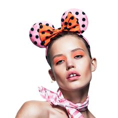 Minnie Mouse Ears by Miu Miu for Love Magazine - Modeled by Georgia May Jagger - Fall 2013 Miu Miu