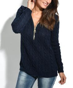 Love this Navy Blue Wool-Blend Sidonie Pullover on #zulily! #zulilyfinds