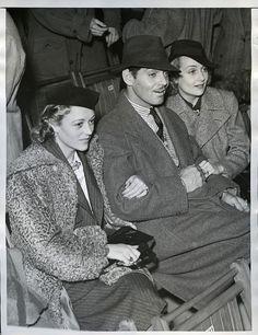 Sally Eilers (1908-1978), Clark Gable (1901-1960) and Carole Lombard (1908-1942)