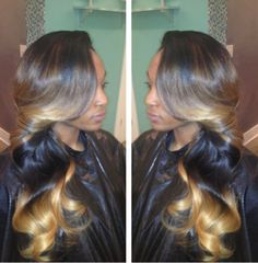Weave Inspiration Blonde ombre and highlights ★ for hair tips and more follow TrackStarHoney!★
