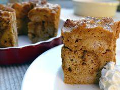 Gluten Free Pumpkin Raisin Bread Pudding