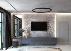 ideas living room tv wall ideas tv decor tvs for 2019 Tv Unit Bedroom, Bedroom Tv Wall, Bedroom Bed Design, Modern Bedroom Design, Interior Modern, Home Interior Design, Bedroom Ideas, Interior Decorating, Decorating Ideas