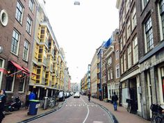 The city streets of Amsterdam, adorned with bicycle paths ofcourse ;-)