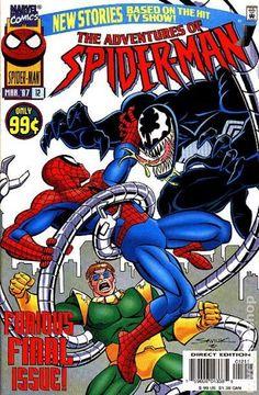 Adventures of Spider-Man (1996) 12 Marvel Comic book comics cover Venom Doc Octopuss