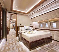 Magnificent Talent - Alberto Pinto - Haute Interior Design Bedroom on Private Plane! Jets Privés De Luxe, Luxury Jets, Luxury Private Jets, Private Plane, Private Jet Interior, Yacht Interior, Home Interior, Sailboat Interior, Home Luxury