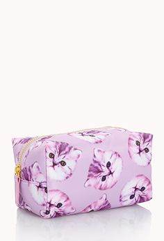 Small Cat Print Cosmetic Bag | FOREVER 21 - 1031557855