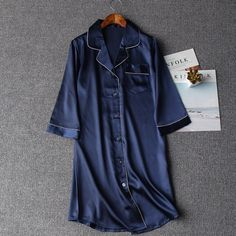 New Arrival Sexy Lady Nightdress Robes Summer Women Casual Nightgown Chinese Style Sleepwear pijamas mujer Sleepshirt One Size Night Dress For Women, Sleep Shirt, Chinese Style, Night Gown, Latest Fashion Trends, Fashion Brand, Sexy Women, Shirt Dress, Fashion Outfits