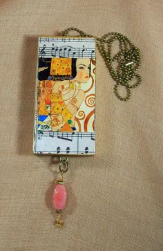 Only 4 left of my 12 piece Klimt tribute jewelry and this one is on Etsy now at Louzart.