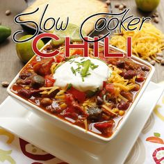 If you are looking for a delicious slow cooker chili to serve your family tonight...check out this one. Filled with tons of flavor...a touch of spice...YUM