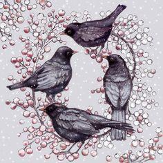 Leading Illustration & Publishing Agency based in London, New York & Marbella. Hand Illustration, Artist, Blackbird, Prints, Animals, Decoupage, Greeting Cards, Printable, Animales