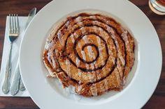 The giant cinnamon roll at Hen House Eatery / Sarah McGee