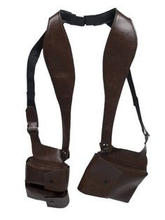 NEW WORLD WALLET - Brown Double Sided Shoulder Holster Style Wallet
