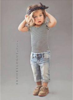 denim + stripes + lace-ups