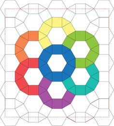 English Paper Piecing Ferris Wheel Mini Quilt Tutorial