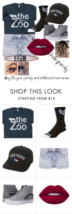"""""""Day 20: your family and childhood memories"""" by moeburgs17 ❤ liked on Polyvore featuring Zoo York, BLANKNYC, Vans, Lime Crime and Maybelline"""