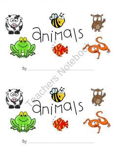 1st Grade CC Unit 2, Animal Classification Booklet from First Grade Finds on TeachersNotebook.com (4 pages)