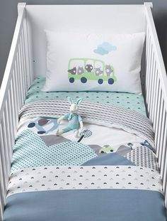 Make your little one's space cosy and unique with Vertbaudet's stunning range of children's bedroom furniture sets & decorations, perfect for adding personality to their room! Baby Bedroom, Baby Boy Rooms, Baby Boy Nurseries, Kids Bedroom, Childrens Bedroom Furniture, Bedroom Furniture Sets, Beige Duvet Covers, Baby Zimmer, Baby Comforter
