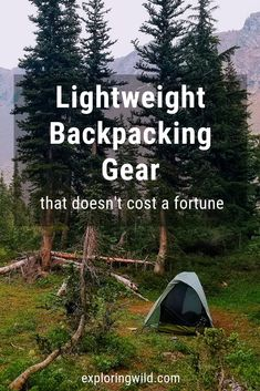 Lighter gear doesn't need to cost more than regular gear. You just need to know where to look. Learn how to upgrade your gear the smart way. #backpacking #backpackinggear
