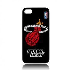 Miami Heat NBA Basket Ball Team 3 iPhone 4 4s  or iPhone 5 case